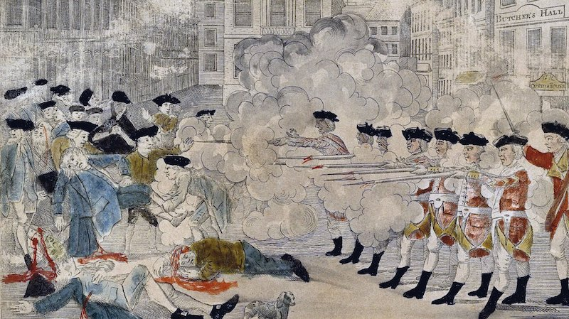 Engraving of the Boston Massacre, 1770. Credit: Paul Revere